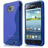 Schicke Schutzhülle für Samsung Galaxy S2 Plus i9105P - Ultra Slim in S-line Blau von PrimaCase