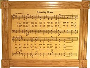 Amazing Grace Carved Maple Plaque