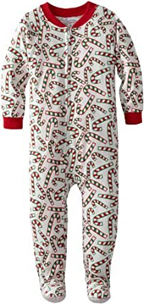 Sara's Prints Little Boys' Footed Pajama, Candy Canes, 2