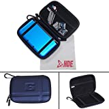 HDE Hard Travel Case Cover for Nintendo DS & 3DS (Original & XL) Handheld Game Systems (Blue)