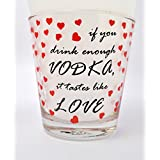 Vodka Love Whiskey Glass Set Of 2