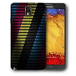 Snoogg Techno Desktop Printed Protective Phone Back Case Cover For Samsung Galaxy NOTE 3 / Note III