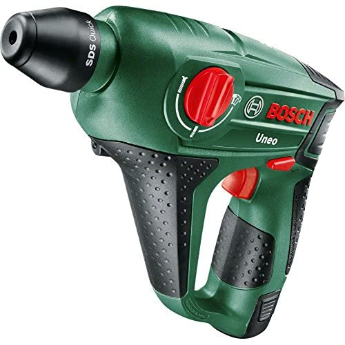 Bosch Uneo 10.8 LI-2 Cordless Lithium-Ion Pneumatic Rotary Hammer with 1 x 10.8 V Battery, 2.0 Ah