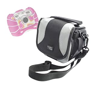 DURAGADGET Padded Camera Bag / Case With Shoulder Strap & Zip Pockets For Kids Fisher-Price Tough See Yourself Camera
