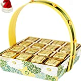 Christmas Gifts Chocolates-Green Basket With Mixed Nuts Chocolates