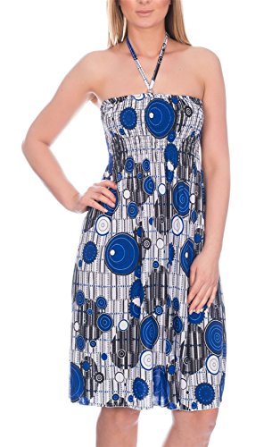 RUT Fashion -  Vestito  - Donna Blue Circles 40-42