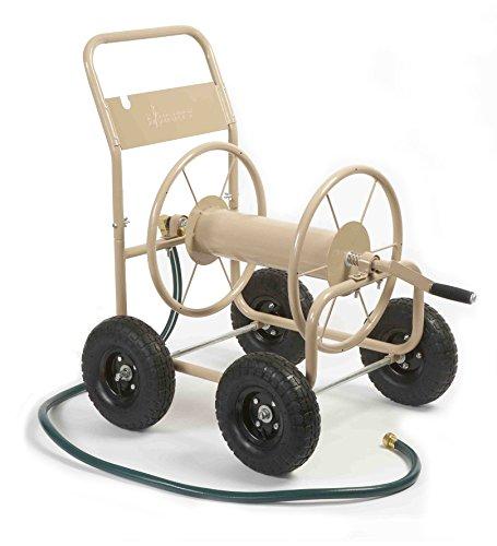 Liberty Garden Products 870-M1-2 Industrial 300 - 4 Wheel Garden Hose Reel Cart - Tan (Garden Hose Trolley compare prices)
