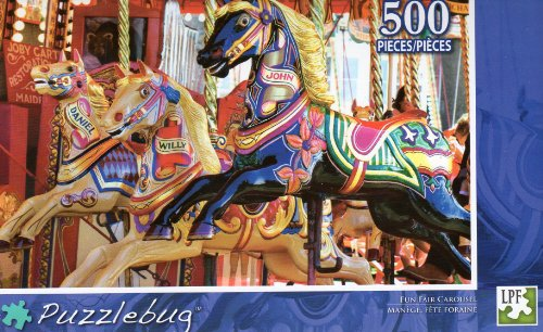 Fun Fair Carousel - Puzzlebug - 500 Pc Jigsaw Puzzle - NEW - 1