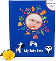 TOP DEAL | Lola Cheng Baby Memory Book w/ Clean Touch Ink Pad & Keepsake Box - An Adorable Way to Keep Your Memories Safe - Modern Baby Scrapbook / Photo Album - Shower Gifts for NewBorn Boys & Girls from LOLA CHENG