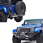 E-Autogrilles 07-15 Jeep Wrangler JK Rubicon Combo of Front and R2 Rear Bumper (51-0359+51-0310)