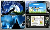 Moon Wolf 3DS XL Vinyl Skin Decal Sticker for 3DS XL