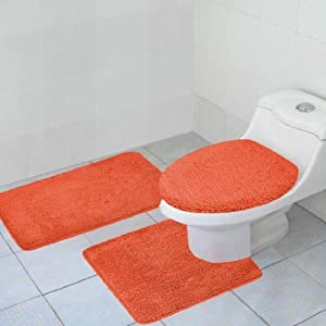 Hailey 3 Piece Bath Rub Set, Tub, Contour, Lid Orange