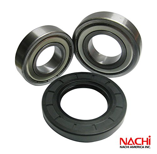"""Nachi High Quality Front Load Maytag Washer Tub Bearing And Seal Kit Fits Tub W10274605 (5 Year Replacement Warranty And Full Hd """"How To"""" Video Included)"""