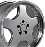 18-inch Fits Mercedes Benz - AMG Aftermarket Wheel - Silver Machined Lip with Rivets 18x9 - REAR FITMENT ONLY