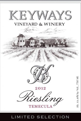 2012 Keyways Vineyard And Winery Limited Selection Riesling, Temecula Valley 750 Ml