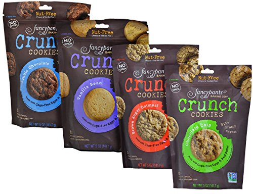 Fancypants Baking Co. Crunch Cookies Natural and Nut-Free (Variety Pack (4 Bags)) (10 Grain Platinum Bar compare prices)