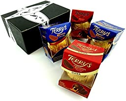 Terry\'s Chocolate Oranges 2-Flavor Variety: Two 6.17 oz Packages Each of Dark Chocolate and Milk Chocolate in a Gift Box (4 Items Total)