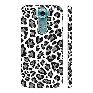 Enthopia Designer Hardshell Case A white Leopard Back Cover for LG V10