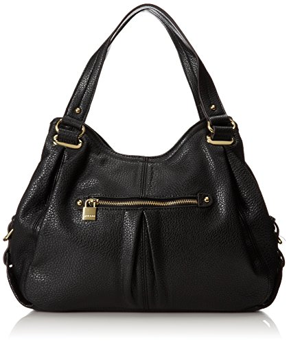 Anne Klein Trinity Shopper Satchel Handbag,Black,One Size