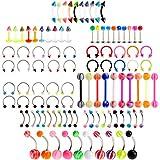 PiercingJ - Lots 100pcs Piercings Boucles Clou d
