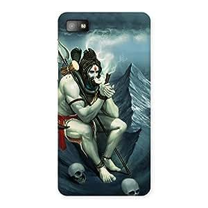 Enticing Om Shiva Multicolor Back Case Cover for Blackberry Z10