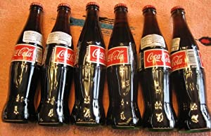 Mexican Coke Coca Cola 6 12-Oz Bottles