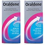 2 x Oraldene® Medicated Mouthwash Mouth Wash for Mouth Ulcers Sore Gum Throat Infection 200ml