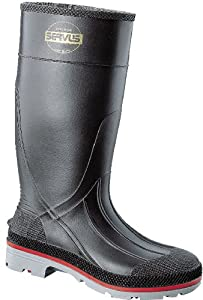 Honeywell Safety 75108-15 Servus XTP Chemical Resistant Men's Hi Boot, Size-15, Black/Red/Grey