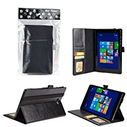 Bear Motion Premium Folio Case for Dell Venue 8 Pro (Windows) Tablet (Dell Venue 8 Tablet Black)