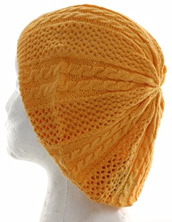 Spring Beret Knitting Pattern : Thin Knit Pattern Beret Hat for Fashionable Women, Summer ...