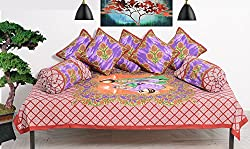 RajasthaniKart Traditional Premium Quality 8 Piece Diwan-e-khas - 100%Cotton
