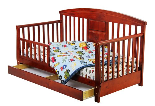 Dream On Me Deluxe Toddler Day Bed, Cherry front-1012994