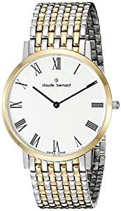 Claude Bernard Men's 20202 357JM BR Gents Slim Line Analog Display Swiss Quartz Two Tone Watch