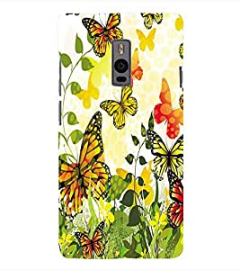 Fuson 3D Printed ButterFly Designer Back Case Cover for OnePlus 2 - D826