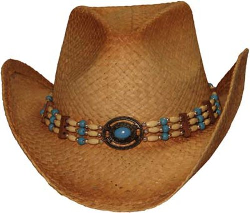 Natural Straw Cowboy Hat, Natural One Size-ST002