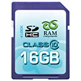 RAM Components 16 GB SDHC High Speed PROFESSIONAL CLASS 10, Secure Digital High Capacity Speicherkarte inkl. Casevon &#34;RAM Components&#34;