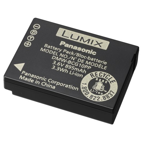 Panasonic DMW-BCG10 ID Secured Battery for Select Panasonic Cameras - Retail Packaging