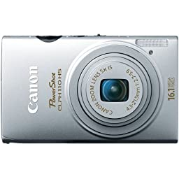 Canon PowerShot ELPH 110 HS 16.1 MP CMOS Digital Camera with 5x Optical Image Stabilized Zoom 24mm Wide-Angle Lens and 1080p Full HD Video Recording (Silver)