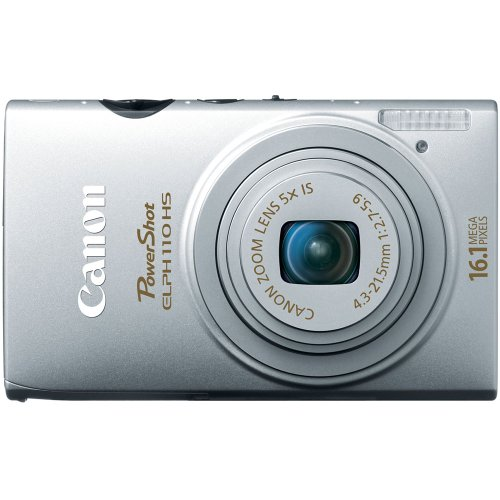 Canon 6036B001 PowerShot ELPH 110 HS 16.1 MP CMOS Digital Camera with 5x Wide-Angle Optical Image Stabilized Zoom Lens and Full 1080p HD Video (Silver)
