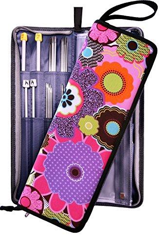 Knitting Needle Case Organizer Bag for Straight & Circular Needles, Crochet Hooks & Knitting Accessories (Knitting Accessories Organizer compare prices)