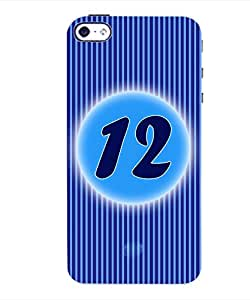 ColourCraft Numerology Number 12 Back Case Cover for APPLE IPHONE 4