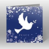 Paper House Charity Christmas Cards - Pack Of 6 Cards - Christmas Visit- Peace - Flittered Finish - In Aid of the following Charities: Marie Curie Cancer Care, Age UK, MNDA, Tenovus, British Heart Foundation, Self Unlimited