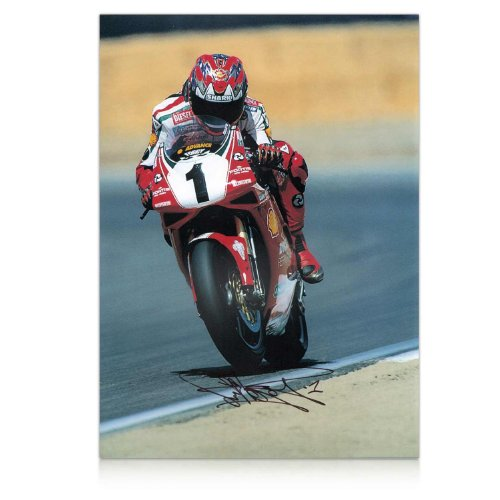 Carl Fogarty Signed Superbikes Photo: Full Throttle front-674717