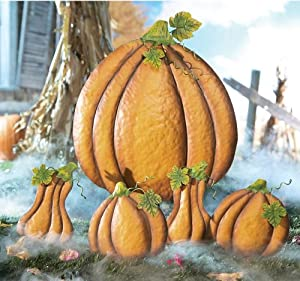 Fall Pumpkin And Gourd Halloween Lawn Stake Decorations by Collections Etc