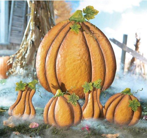Pumpkin Gourd Halloween Stake Decorations
