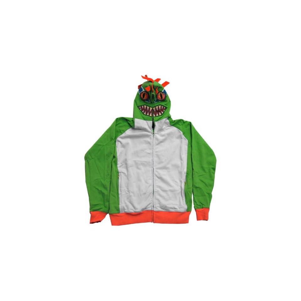World Of Warcraft Blizzard Murloc Costume Zip Up Hoodie Hooded Sweatshirt Clothing