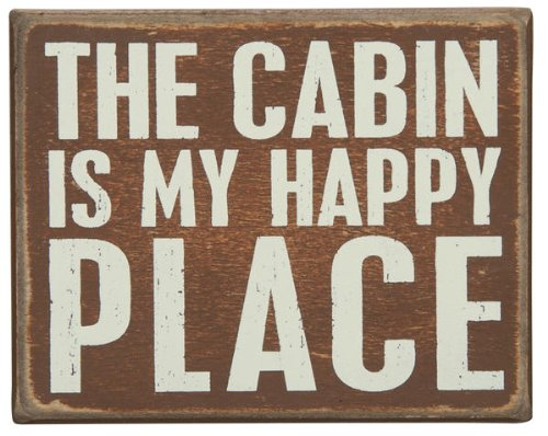 Distressed Box Sign- For Lake or Cabin-