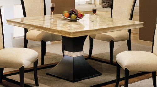 Buy Low Price Armen Living Alexis Square Dining Table by Armen Living (MALDICH55TO-ES60BA)