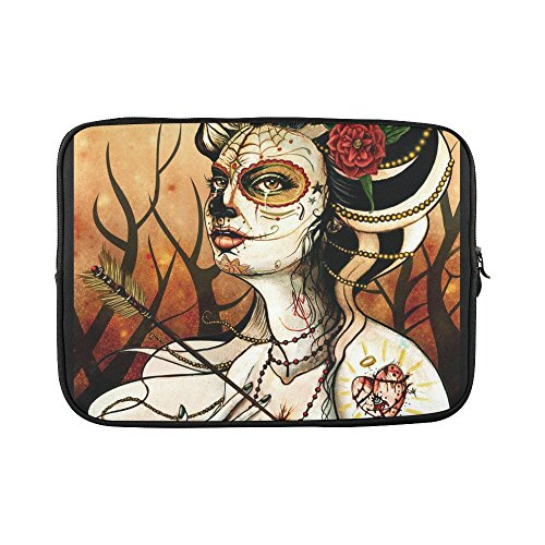 slsend-custom-day-of-the-dead-water-resistant-computer-bag-laptop-sleeve-notebook-case-cover