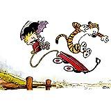 Calvin & Hobbes Hobbes Calvin Frameless Fine Quality Poster Paper Print HD